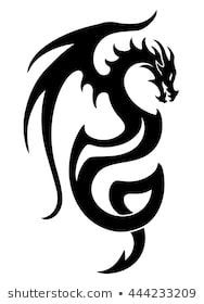 Vector illustration of dragon tattoo design black stock vector (royalty free . - Vector Illustration of Dragon Tattoo Design Black Stock Vector (Royalty Free) 444233209 – Stock P - Dragon Tattoo Vector, Dragon Tattoo Drawing, Black Dragon Tattoo, Tribal Dragon Tattoos, Dragons Tattoo, Celtic Dragon Tattoos, Small Dragon Tattoos, Dragon Tattoo For Women, Chinese Dragon Tattoos