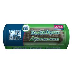 Natural Balance Grain Free Fresh & Clean Mini Dog Dental Chews | Dental Treats | PetSmart