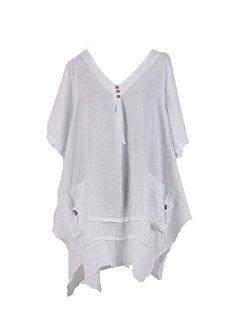 5cef8128c48 New Ladies Italian Quirky Lagenlook Tunic Top women Linen Tunic Blouse Plus  Sizes (Black): Amazon.co.uk: Clothing