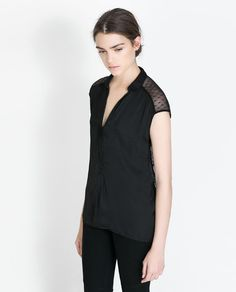 Image 3 of LACE BACK SHIRT from Zara