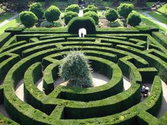 Maze, Chatsworth Garden - One day, I will have this in my back yard.  What a treat for everyone.