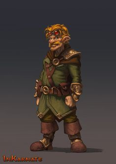 Male Gnome character for Inkarnate.com | Todor Hristov