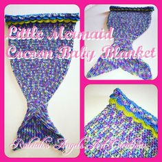 """""""Little Mermaid Cocoon"""" for babies, 42 x 34cm (with tail 62 x 34 cm), crocheted acrylic Yarn: CAD 110.- (+ shipping fee)... Available in many other colours... You can choose your colour & place your order, too  © Raleiah's Angels Art Creations  www.raleiahs-angels.com New Darlings, Nature Spirits, Yarn Shop, Angel Art, The Little Mermaid, Crochet Top, Angels, Art Gallery, Colours"""