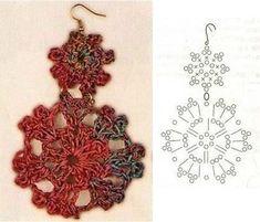 36 New Ideas For Crochet Doilies Chart Pineapple Crochet Diagram, Crochet Chart, Thread Crochet, Crochet Motif, Crochet Doilies, Crochet Flowers, Crochet Lace, Crochet Jewelry Patterns, Crochet Earrings Pattern