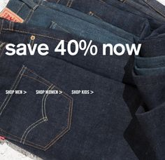 Levi's 40% Off PLUS FREE Shipping!