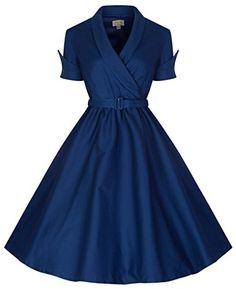 Lindy Bop 'Courtney' Chic Midnight Blue 40's/50's Vintage Swing Dress (2XL, Midnight Blue) Lindy Bop http://www.amazon.com/dp/B00VHY9YEG/ref=cm_sw_r_pi_dp_kSB9vb19RECYA