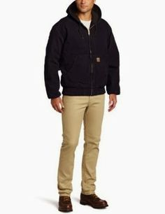 Carhartt Men's Sandstone Duck Active Jacket - Quilted Flannel Lined J130 is one of the best selling men's jackets of this season.