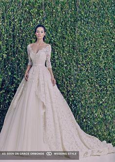zuhair murad fall 2014 long sleeve wedding dress
