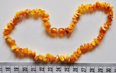 Raw Unpolished Baltic Amber  Teething Necklace for Baby by Evamber, $6.95
