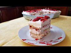 ΕΥΚΟΛΟ ΓΛΥΚΟ ΜΕ 5 ΥΛΙΚΑ ΠΟΥ ΘΑ ΣΑΣ ΤΡΕΛΑΝΕΙ!! - YouTube Greek Desserts, Greek Recipes, Strawberry Desserts, How Sweet Eats, Vanilla Cake, Tiramisu, Deserts, Pudding, Sweets