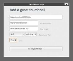 Create thumbnails of websites with WordPress Snap
