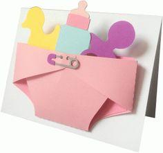 Silhouette Design Store - View Design #86940: baby diaper card