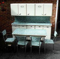 Image detail for - VINTAGE-RETRO-DECO-ORIGINAL-1950S-KITCHEN-CABINET-LARDER-DRAWERS-TABLE ...