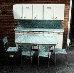 Image detail for - VINTAGE-RETRO-DECO-ORIGINAL-1950S-KITCHEN-CABINET-LARDER-DRAWERS-TABLE ...