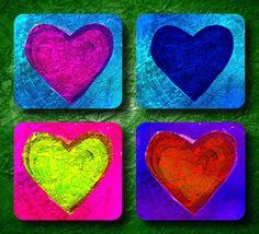 faux foil hearts