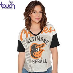 Baltimore Orioles Touch by Alyssa Milano Women's Power Play T-Shirt - Cream - $39.99