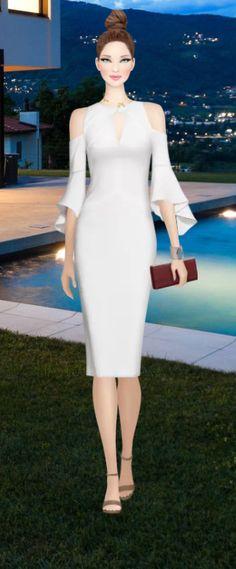 Simple Dresses, Casual Dresses, Short Dresses, Formal Dresses, Fashion Dress Up Games, Fashion Dresses, Covet Fashion, Womens Fashion, Fashion Design
