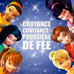 """""""Croyance, confiance et poussière de fée! """" Iridessa, Ondine, Noa,Vidia,Rosélia, Clochette - © Disney #CLOCHETTE"""