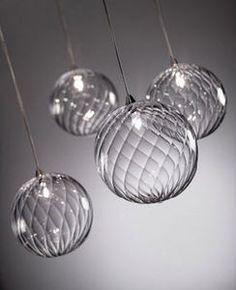 lampe suspension design (verre soufflé) BULLES TORCHON reflex Angelo ...