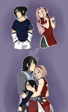 Naruto-How Much Has Changed (SasuSaku) by HinataElyonToph on DeviantArt Sasuke Sakura Sarada, Naruto Y Boruto, Naruto And Sasuke, Naruhina, Naruto Team 7, Naruto Family, Boruto Naruto Next Generations, Anime Naruto, Cute Anime Coupes