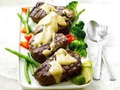 Pihvit ja sinappinen pippurikastike Beef, Koti, Meat, Steak