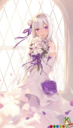 Bộ sưu tập hình nền Fanart Emilia (Re:Zero) siêu dễ thương