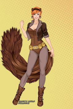 Squirrel Girl by aerieyena ~ Cartoon and Comic Dress Up Marvel Women, Marvel Heroes, Marvel Comics, Young Avengers, New Avengers, Squirrel Girl Marvel, Unbeatable Squirrel Girl, Heathers The Musical, Marvel Comic Character