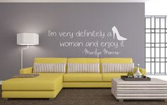 LOVING our new Marilyn Monroe wall art decals!!!  #marilynmonroe #quote #homedecor #sexy