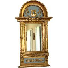 Antique Swedish Empire Paint Decorated Mirror at Juliet Jones Vintage on Ruby Lane