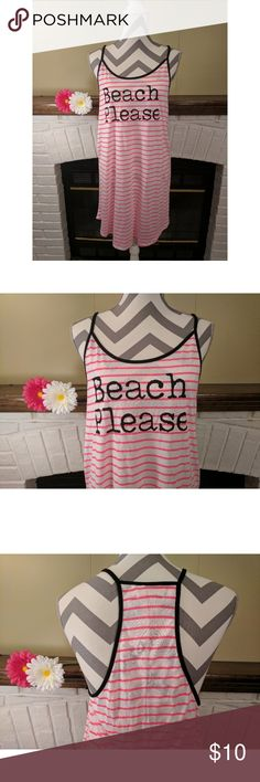 """OP Graphic Swim Cover-Up Dress Perfect to wear for a day on the beach or to a pool party! Graphic design is Summer Love displayed in gold lettering. Cotton/polyester blend. Measurements laying flat across at bust: 19""""; length: 37"""". 🚭 Smoke free home. OP Swim Coverups"""