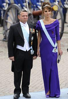 Il re di Giordania con la moglie Rania