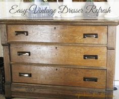 Easy No-Paint Furniture Refresh - Cupcakes and Crinoline