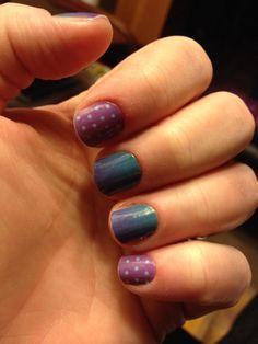 Jamberry Turple Ombre with Purple mini polka