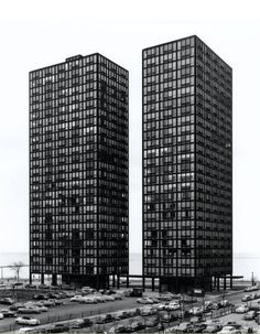 860-880 North Lake Shore Drive Apartments | Ludwig Mies van der Rohe | 1948-1951Photographer Richard Nickel