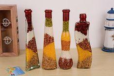 Temas, Frases, Curiosidades y Más : El Frasco de la Abundancia Diy Bottle, Bottle Art, Bottle Crafts, Feng Shui, Crystal Healing Stones, Indian Home Decor, Wicca, Home Crafts, Kitchen Decor