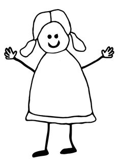 Stick Girl Colouring Pages