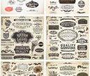 Vector retro decorative design elements | Vector Graphics Blog