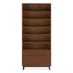 Room & Board - Copenhagen 36w 14d 82h One-File-Drawer Bookcase