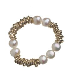 Links of London sweetie 18ct rolled gold with freshwater pearl bracelet $1,200