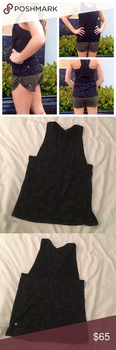 Lululemon Run For Days Tank Camo NWOT. Size 6. Black camo.    • no trades • offers welcome • bundles! •                    • email on my about • • all lulu purchases ship in a small lulu bag • lululemon athletica Tops Tank Tops