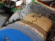 The small beach. Lego Beach, Lego Winter Village, Lego Pictures, Cool Lego Creations, Lego House, Lego Projects, Everything Is Awesome, Lego Moc, Lego Instructions