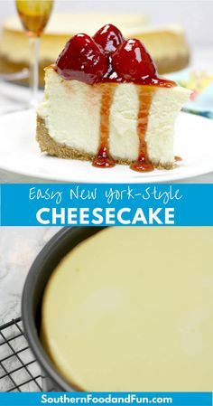 Classic Cheesecake Recipe for a New York style cheesecake that is creamy and luscious and never cracks on top! Perfect make-ahead dessert. #cheesecake #cheesecakerecipes #easyrecipe #simpledessert #newyorkstylecheesecake #NewYorkCheesecake #thanksgiving #christmasrecipes