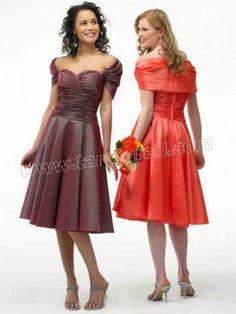 A-line Off-the-shoulder Ruffles Sleeveless Knee-length Dress