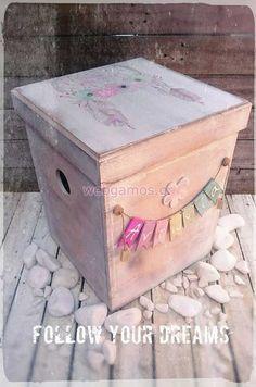Ξύλινο Κουτί βάπτισης ονειροπαγίδα (611781) Weeding, Christening, Decorative Boxes, Boho, Home Decor, Picture On Wood, Crates, Grass, Decoration Home