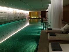 Indoor pool at Bulgari London