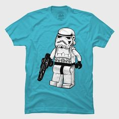40 of the Best Lego Inspired T Shirts | 18. Lego Trooper – by jackbh
