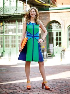 Fashion risk: Bold colour  Shauna Levy, 44, president of Design Exchange