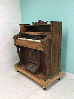 Before electric Brattboro VA. Carpenter Company. 1800's rest pump organ project.