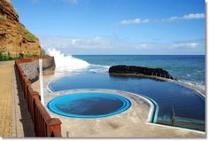 Porto da Cruz, natural seawater swimming pools, Madeira