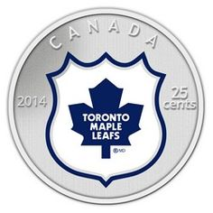 2014 Coin and Stamp set featuring the Toronto Maple Leafs. This painted cupronickel coin has a diameter of 35 millimetres. The reverse design features a coloured team logo in colour captured within the NHL shield on a frosted background. Hockey Logos, Nhl Logos, Sports Team Logos, Sports Art, Basketball Gifts, Sports Gifts, Softball Gifts, College Basketball, Maple Leafs Hockey